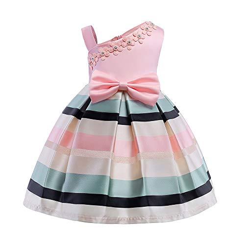860cc6623393 Mbby Vestito Bambina Fiori Ricamo
