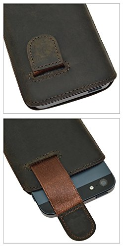 Suncase ® 42413355 Étui pour iPhone 5  de style vintage - Marron foncé brown / antic