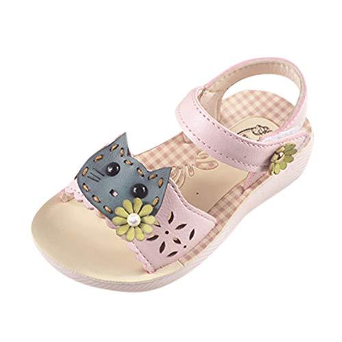 cd41d75fee Berimaterry Sandalias niña Verano Zapatillas Zapatos Planos de Chicas Flor  niñas Calzado Zapatos de Vestir Zapatos