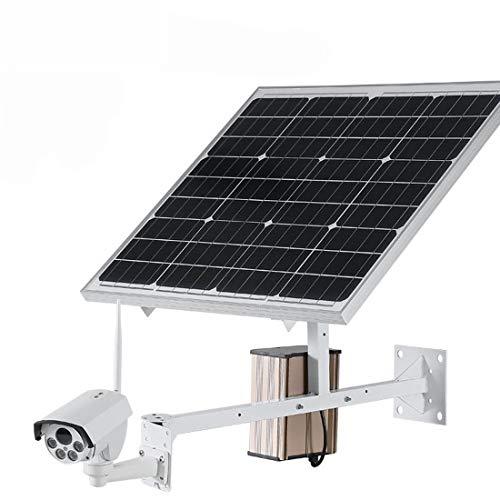 FELICIGG Drahtlose Handyfernbedienung der Solarüberwachungskamera-Netzwerkhaubenkamera 4G im Freien (Farbe : White) - Poe-ptz Im Freien