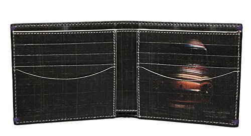 Paul Smith Men's Billfold a portafoglio, in pelle, colore: Nero, Mini-Cross Hatch Print AKXX 1032-W586B