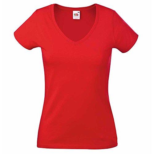 Fruit of the LoomDamen T-Shirt Red