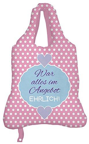 Einkaufsbeutel Tasche mit witzigen Motiv (rosa)
