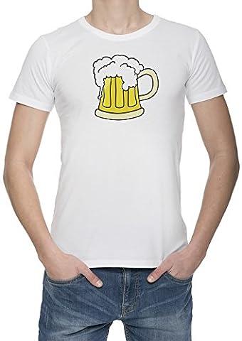 Tasse De Bière Givrée Homme Blanc T-shirt Toutes Les Tailles | Men's White T-Shirt Top