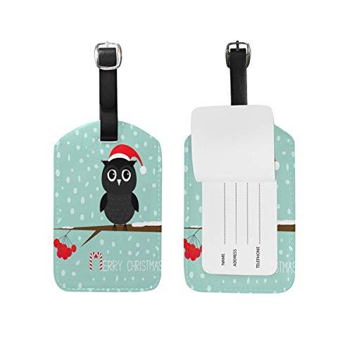 Frau Claus Hat - Owl Santa Claus Hat Snowflake Kofferanhänger