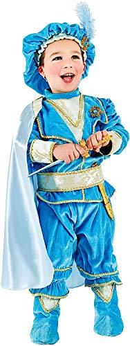 Costume di carnevale da principino azzurro in velluto vestito per neonato bambino 0-3 anni travestimento veneziano halloween cosplay festa party 2310 taglia 2