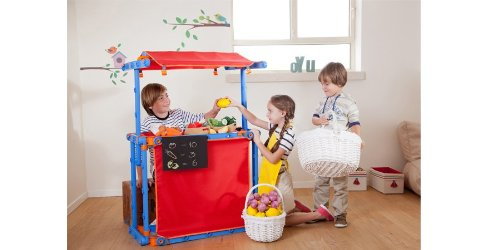 Preisvergleich Produktbild KETER M674 - MegaDo Kinder-Spielhaus Fussballtor, Puppentheater, Kasperletheater, Kaufladen