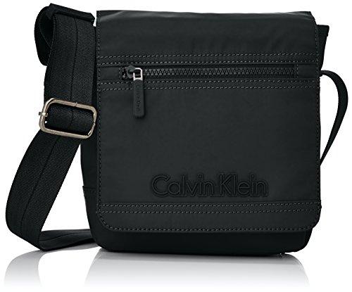 Calvin Klein Jeans Metro Reporter With Flap, Borsa Uomo Nero (Black1)