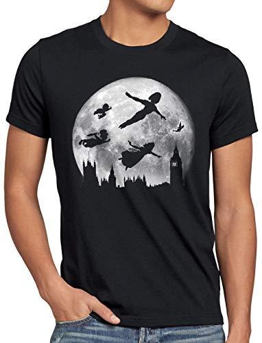 CottonCloud Nimmerland Herren T-Shirt Wendy Peter Hook märchen, Größe:5XL