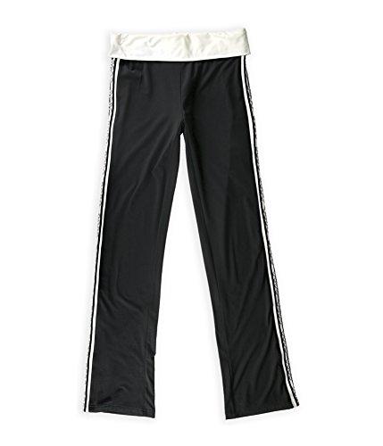 bcbg-womens-metallic-logo-stripe-athletic-track-pants-blackwhite-m-34
