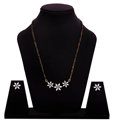Sitashi Regular Clear AD, American Diamond, CZ, Mangalsutra Set/ Artificial jewellery set for Women