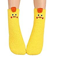 Fuzzy Animal Slipper Socks - One Size