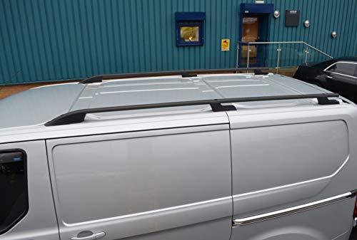 Alvm pi/èces et accessoires Noir Alu Barre transversale Ensemble de rail pour barres de toit sur le c/ôt/é pour sadapter au Transit Custom 12/+