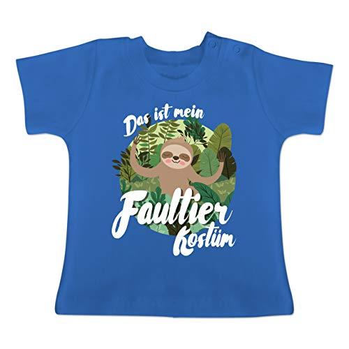 Kostüm Sloth Baby - Karneval und Fasching Baby - Das ist Mein Faultier Kostüm - 1-3 Monate - Royalblau - BZ02 - Baby T-Shirt Kurzarm
