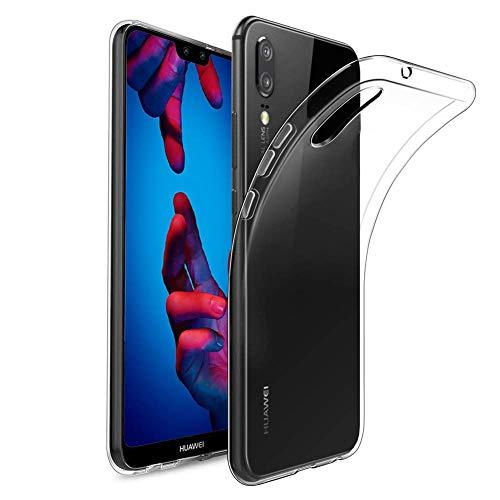 Soft-silikon-hülle (Amonke Handyhülle für Huawei P20 - Soft Flexible Huawei P20 Hülle Silikon Transparent, Ultra Clear TPU Case Cover Durchsichtige Handytasche Schutzhülle für Huawei P20)