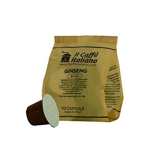50 Kaffeekapselmaschine Kaffee geschmack Ginseng verwendbar für alle Nespresso Maschinen - 50 Nespresso kompatible kaffeekapseln - 50 kaffee kapseln Kaffee geschmack Ginseng Nespresso - Il Caffè Italiano (Unternehmen Ginseng)