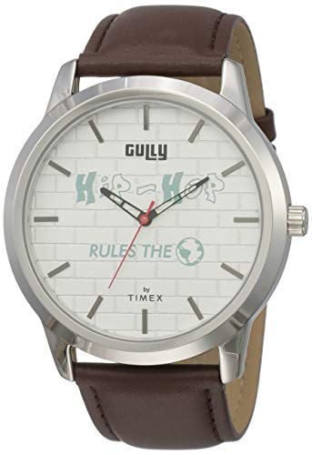 Gully by Timex Hip-hop Analog White Dial Men's Watch-TWEG15022