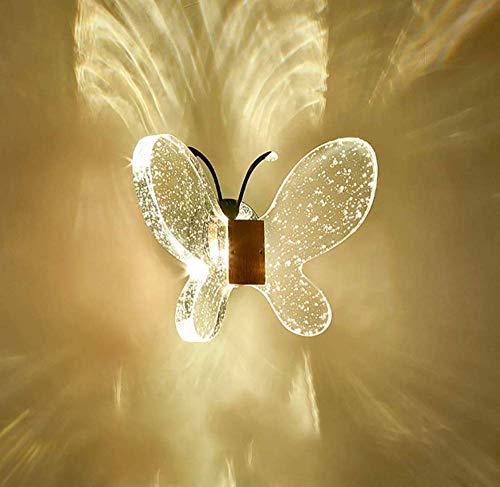 Moderne Light Crystal Flush Deckenleuchte mit Chrom-Backplate Crystal Butterfly Wandleuchte -