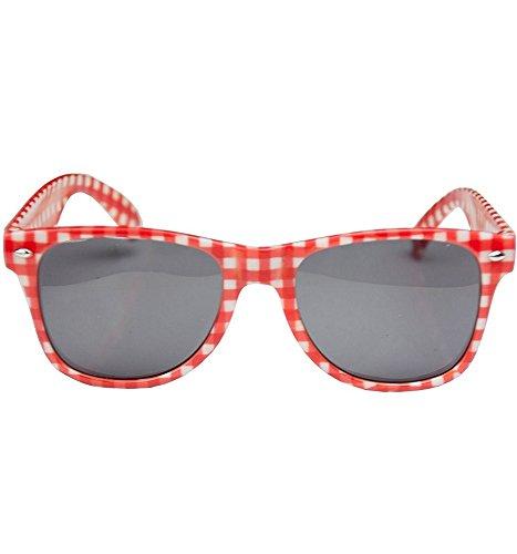 Preisvergleich Produktbild Brille rot-weiss kariert
