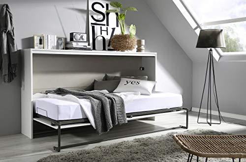 Funktionsbett Susi 2 90*200 cm weiß / grau Schrankbett Klappbett Raumsparbett Kinderbett Jugendliege Bettliege Gästebett Kinderzimmer - 3