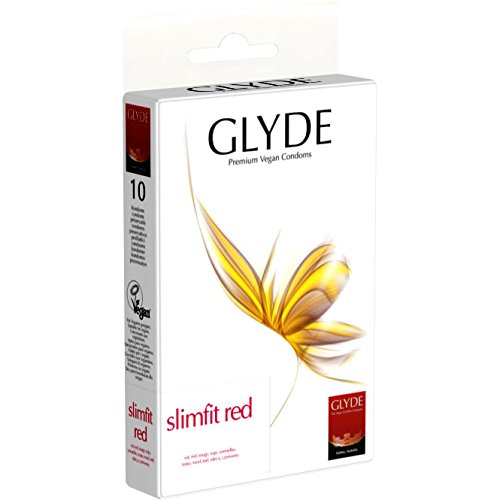 Glyde Ultra Slimfit Red 10 schmale Condome, vegan! -