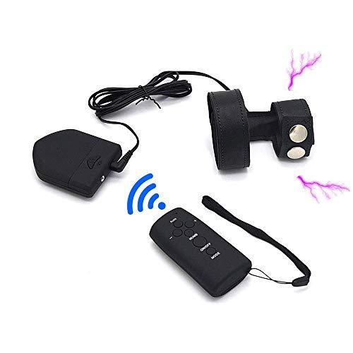 Luxus Elektro Shock Kit, E-stim Sex Erotik Elektrostimulation Penis Ring/Cock Ring/Hodenring, Folter Stimulator SM Sexspielzeug für Erwachsene Spiel Elektrosex,Black