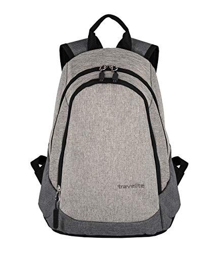 Travelite Basics 96234 - Mini zaino, 25 x 35 x 20 cm, 11 l, grigio chiaro (Grigio) - 96234 91 Hellgrau