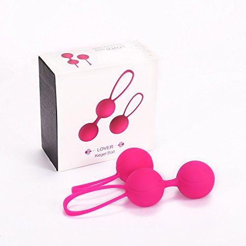 Liebeskugeln für Frauen Beckenboden - Silikon - Übung Bälle 3 Phasen (1-15-45-75 Tage) 100% Wasserdicht -