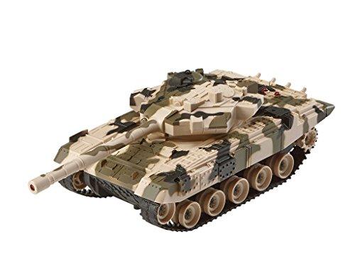 Revell Control 24224 - RC Panzer Set, Battle Game POWER TRACKS, 2 RC Panzer mit Infrarot-Schussfunktion, Soundmodul, Rückstoßeffekt, Mündungsfeuer-LED, Kettenlaufwerk mit Gummikette, MHz - 2