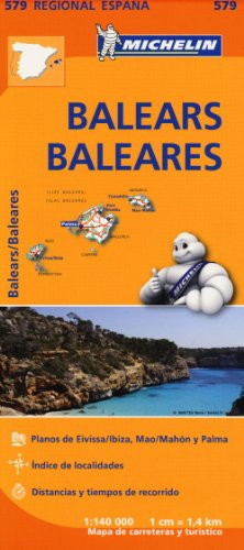Balears / Baleares Regional Map 579 (Michelin Regional Maps) par Michelin