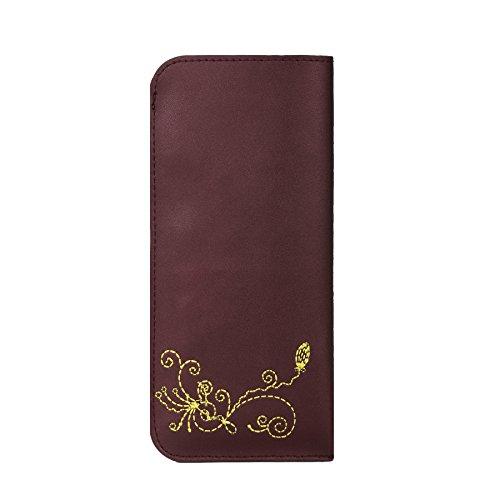 Case MENKAI pour lunettes de soleil et de lecture fleurs dessin gris 774G Purple Black