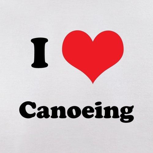 I Love Canoeing - Herren T-Shirt - 13 Farben Weiß