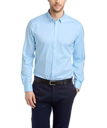 ESPRIT Collection Herren Slim Fit Businesshemd 024EO2F008 Baumwollhemd mit leichter Struktur, Gr. XX-Large (Herstellergröße: 4546), Blau (BUSINESS BLUE)