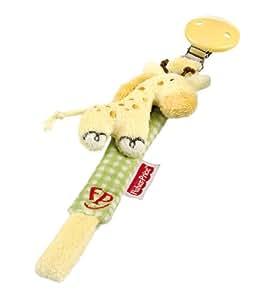 Happy People 40818 - Fisher-Price, Schnullerband Giraffe 23 cm