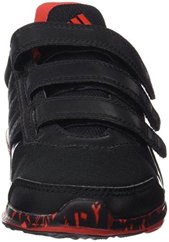 Adidas Hyperfast 2.0 Cf K, Scarpe Low-Top Bambine e Ragazze, 33 EU Negro / Rojo (Negbas / Negbas / Rojint)