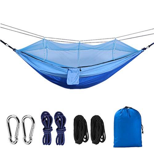 Outdoor Camping Hängematte mit Moskito Net 260 * 140cm Hohe Festigkeit Fallschirm Stoff Hängen Bett Jagd Schlaf Schaukel Hängematte - Hängematte Eno Net