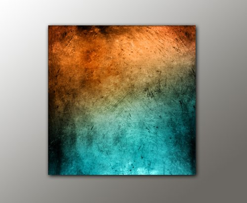 100x100 cm !!! - türkis orange + (Vintage_Style_13-100x100cm) abstraktes Bild knallige Farben RIESEN-FORMAT Bilder auf Leinwand und Keilrahmen +++ Deko für ihr Wohnzimmer, Schlafzimmer, Büro + XXL BILDER FOTODRUCKE KUNSTDRUCK WANDBILDER AUSWAHL IN UNSEREM BILDERSHOP +++ Trendmotive für alle Wohnbereiche in vielen verschiedene Größen, mit kreativen Bildmotiven verleihen Sie Ihrem Wohnraum eine persönliche Note, kunstvolle Trendmotive passend zu aktuellen Möbeltrends, Bei uns finden Sie für jede Wand das passende Kunstwerk ! (Abstrakte Bilder)