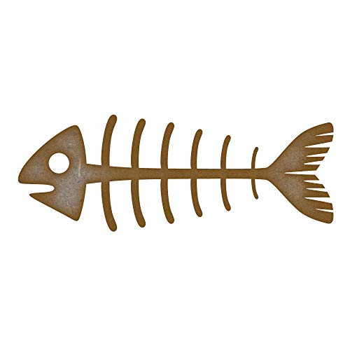 Fairy Dust Feenstaub Fisch-Skelett MDF Laser Cut Craft Rohlinge in verschiedenen Größen, Fish Skeleton - Small