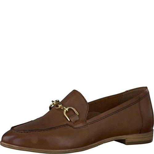 Tamaris Schuhe 1-1-24421-38 bequeme Damen Slipper, Slip On, Halbschuhe, Sommerschuhe für modebewusste Frau, braun (COGNAC), EU 40