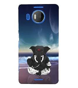 Fiobs Designer Back Case Cover for Microsoft Lumia 950 XL :: Microsoft Lumia 950 XL Dual SIM (Ganpati Bappa Ganesha Sitting Modak In Hands)
