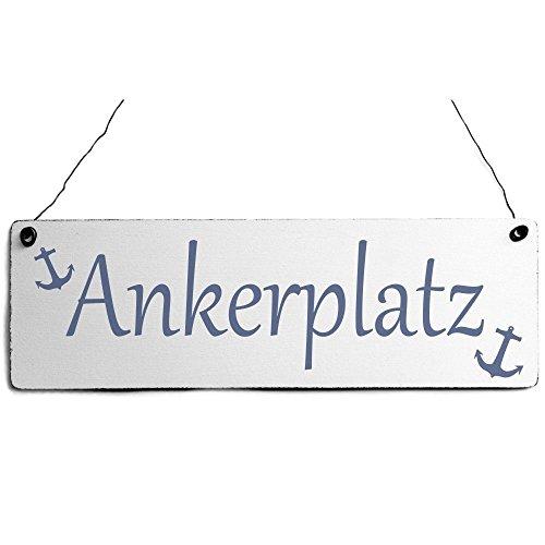 Shabby Türschild Ankerplatz Holzschild Vintage Maritim Deko