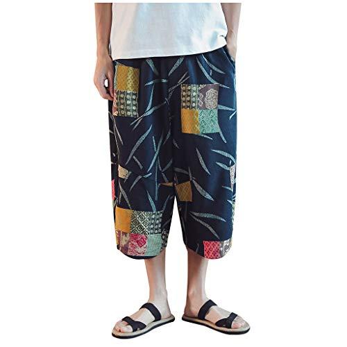 Vovotrade Pescatore Tailandese Pantaloni Yoga Pantaloni Pantaloni Vintage da Uomo