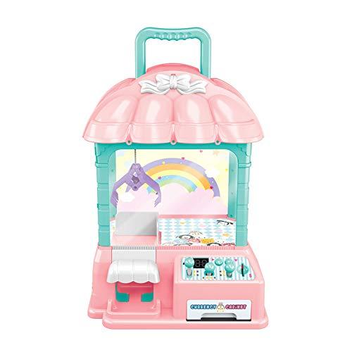 XUMING Klaue Maschine USB + Batterie Hoch mit Candy Collector Doll Grab Maschine Desktop Neuheit Spielzeug Familie Interaktive Kinder Action und Reaktionsspiel,Pink - Tabletop-automaten
