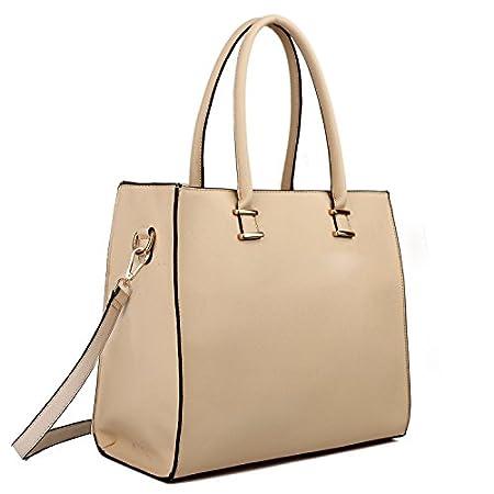 Miss LuLu Aktentasche Schultertasche Damen Tasche Shopper Elegant aus PU Leder Groß Handtasche