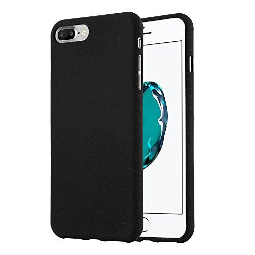 Preisvergleich Produktbild Cadorabo Hülle für Apple iPhone 8 Plus / iPhone 7 Plus / iPhone 7S Plus - Hülle in Frost SCHWARZ – Handyhülle aus TPU Silikon im matten Frosted Design - Silikonhülle Schutzhülle
