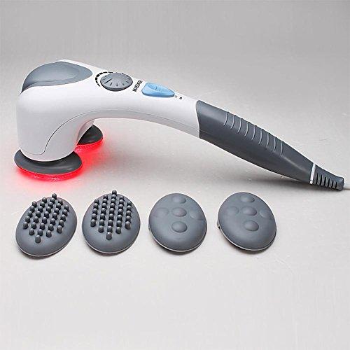 Jmung's massaggiatore a elettrico percussione funzione riscaldamento infrarossi velocità regolabile nodi intercambiabili per schiena, collo, spalle, corpo bk803