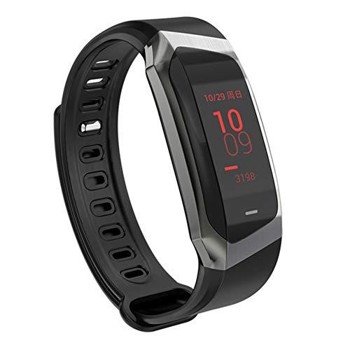 MSQL Fitness Tracker Farbbildschirm Smart Armband Herzfrequenz- und Schlafmonitor Wasserdichte Trainingsuhr für Android & iOS,Black