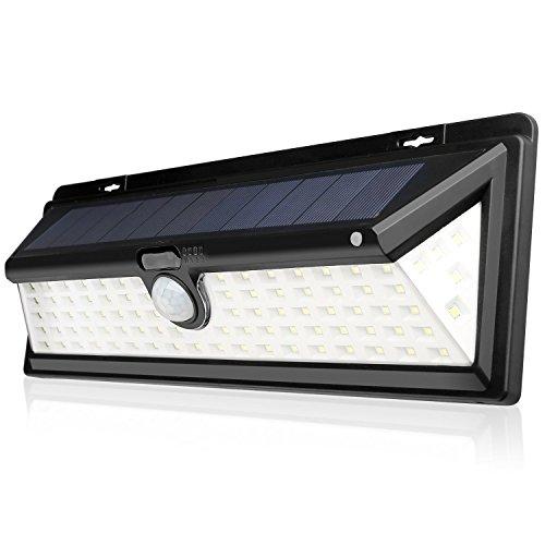 54LED solaire lampe murale de sécurité étanche 3 modes d'économie d'énergie Mouvement Capteur de lumière pour jardin patio pont 1 pièce