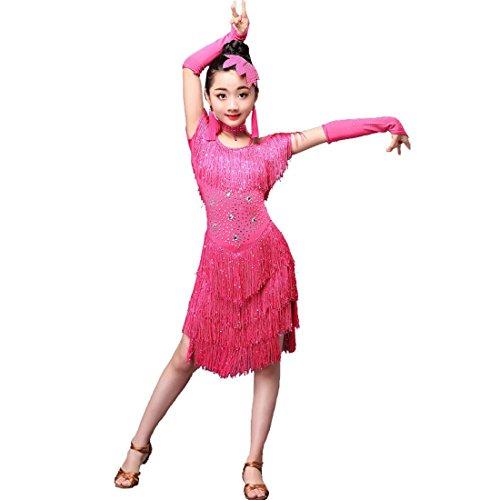 letten Quaste Rock Lady Latin Dance Tango Salsa Tanz Kostüm (Lady Rose Mädchen Kostüme)