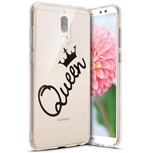Coque Huawei Mate 10 Lite,Etui Huawei Mate 10 Lite,Surakey Impression de Motif Transparente Souple Silicone Housse Etui Coque de Protection TPU Bumper Case pour Huawei Mate 10 Lite, Queen